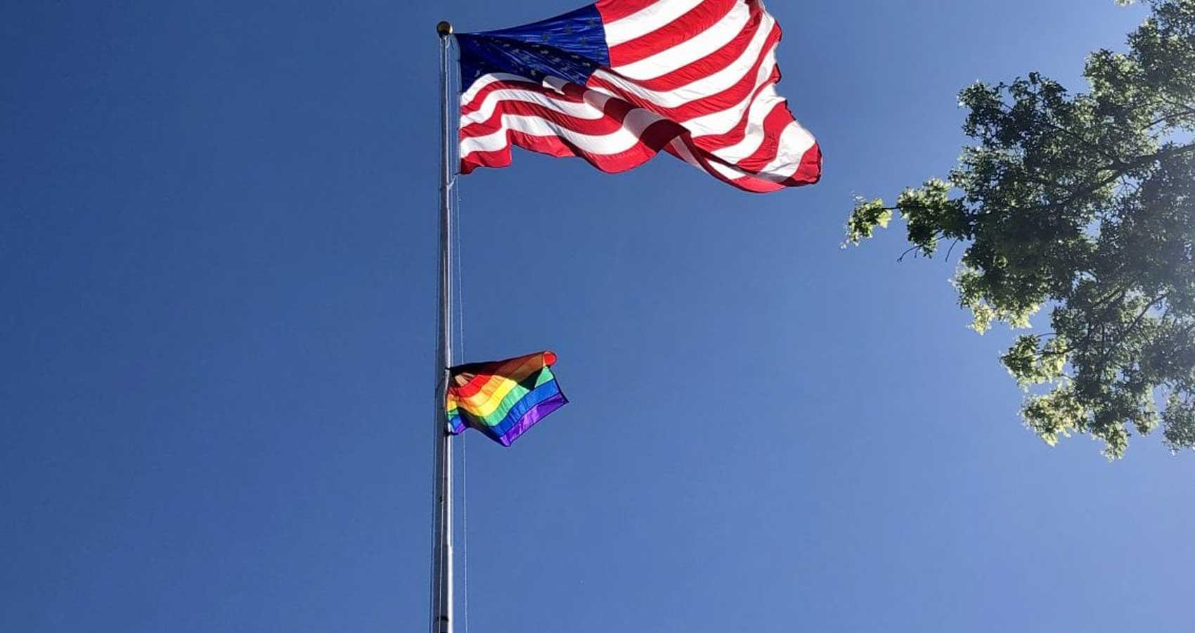 Pride Flag Flying High